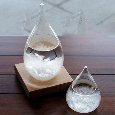 Rainstorm Drop Designed Weather Forecast Glass Bottle Decor Ornaments Office Art