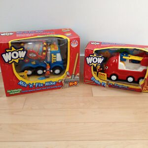 2 Brand New WOW Toys - Mix 'n' Fix & Fire Engine
