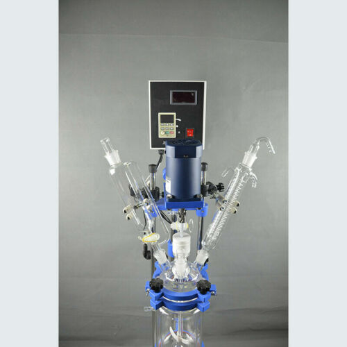 5L 110V Pilot Plant Jacketed Glass Chemical Reactor Glass Reactor Lab Glassware
