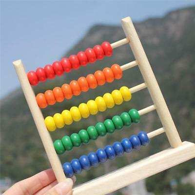 Wooden Bead Abacus Counting Frame Educational Learn Maths Kids Toy FS3