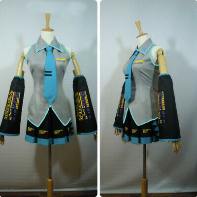 Hatsune Miku Outfit Full Suit Cosplay Costume Game Japanese Halloween Mid Dress](Hatsune Miku Halloween Cosplay)