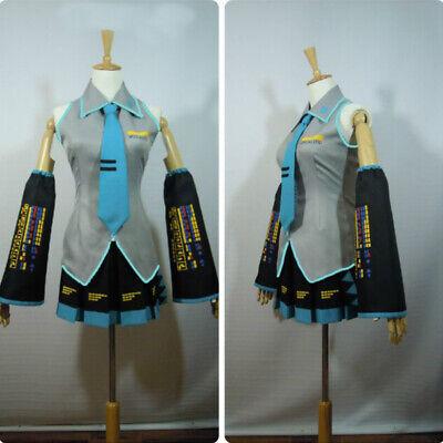 Hatsune Miku Outfit Full Suit Cosplay Costume Game Japanese Halloween Mid - Hatsune Miku Halloween Cosplay