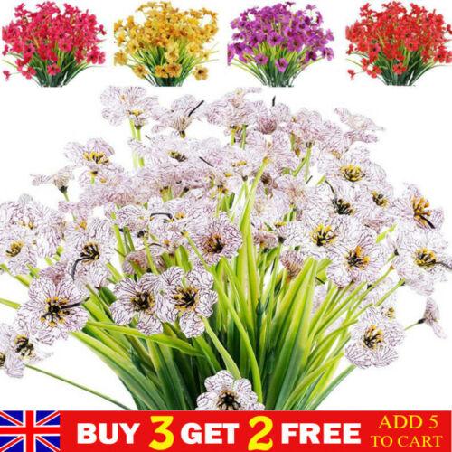 Home Decoration - Artificial Flowers Outdoor UV Resistant Plastic Plants for Home Garden Decor
