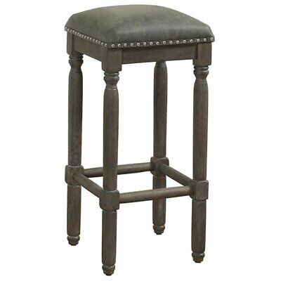 """Bowery Hill 30"""" Backless Bar Stool in Driftwood Grey"""