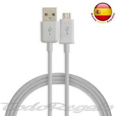 Cable de Carga y Datos Micro USB Blanco para Samsung Galaxy S6...