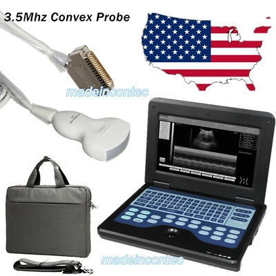 Fda Digital Ultrasound Scanner Portable Laptop Machine 3.5mhz Convex Probe Usa