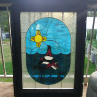Native stained glass orca