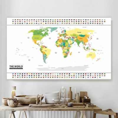 Deluxe Travel World Map Edition Scratch Off Map Poster Personalized Journal Us