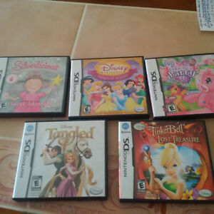 5 DS games - Princess, My Little Pony etc. Cambridge Kitchener Area image 1