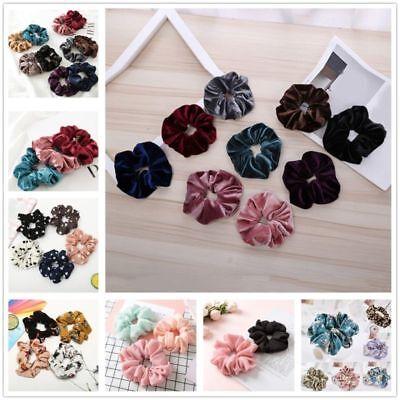 Women's Velvet Elastic Hair Rope Scrunchie Ponytail Holder Rubber Band Wholesale (Wholesale Scrunchies)