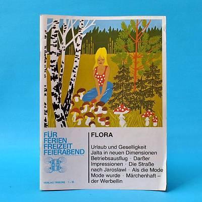 DDR Flora EA 1977 | Verlag Tribüne | Leseheft Zeitschrift Literatur U