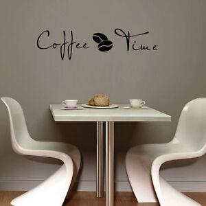 Coffee Time Wall Art Decal Sticker Kitchen Decor Coffee
