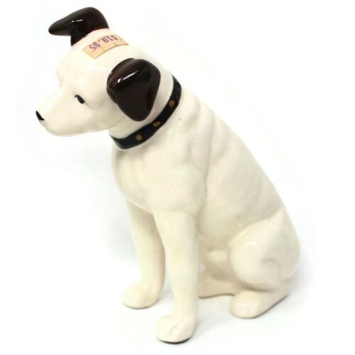 """🔴 Vintage RCA Victor Edison Dog Nipper Porcelain Coin Bank 6.5"""""""