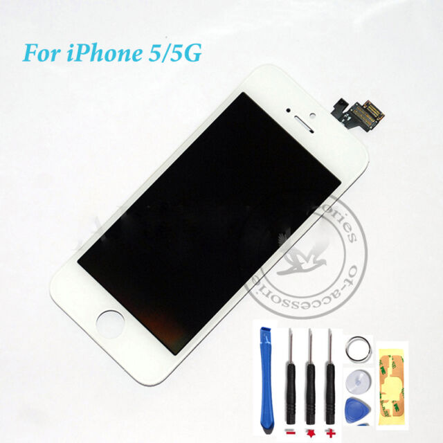 For White iPhone 5 replacement  LCD Touch Screen Digitizer Assembly High Quality