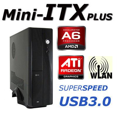 SLIM PC AMD A6 7400K 3,9GHz 4GB 500GB R5 Serie WLAN HDMI USB3 Windows7 Computer
