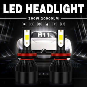 2x H11/H9/H8 200W 20000LM LED Headlight Conversion Kit Beam Bulb