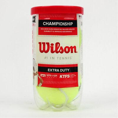 Wilson Tennis Ball Championship Extra Duty 2 Balls Can Yellow WRT1067K0