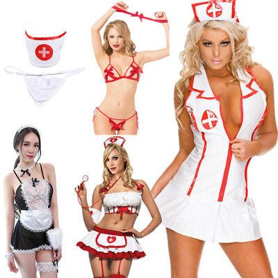 Women Sexy Lingerie Nurse Uniform Cosplay Custome Sleepwear Underwear - Lingerie Customs