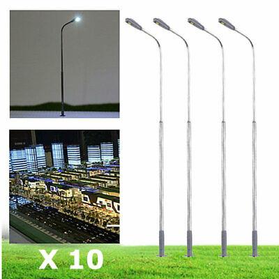 TRAINS JOUEF ROCO LIMA LOT 10 LAMPADAIRES de VILLE HO H85mm LED...