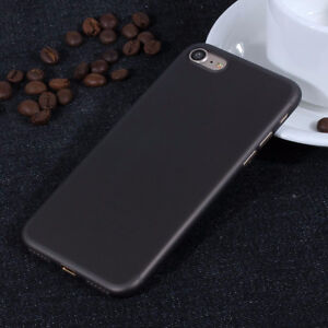 iPhone 7 Ultra Thin Slim Silicone Soft Black Rubber Back Case