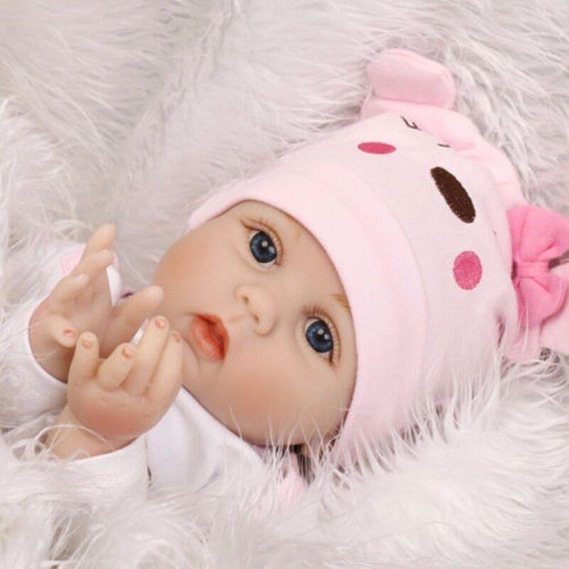22 Lifelike Baby Girl doll Handmade Silicone Vinyl Reborn