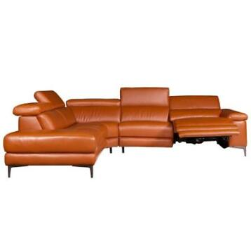hoekbank Lupine chaise longue links | leer oranje M5659