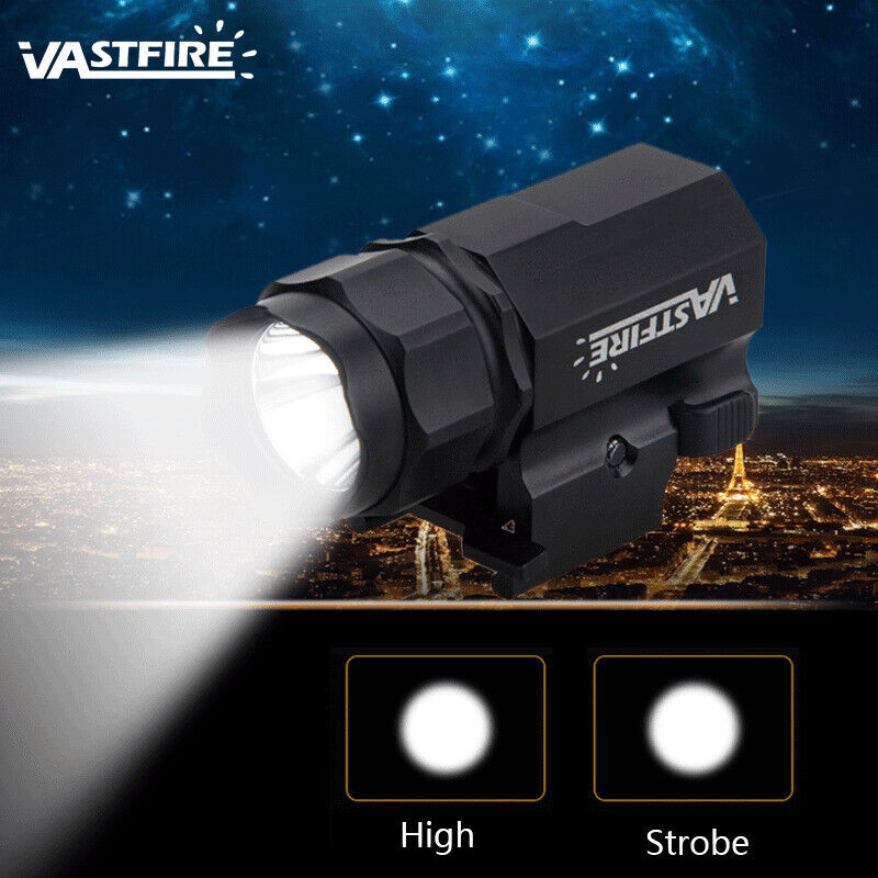 6000LM LED Tactical Gun Rifle Flashlight Pistol Rail Mount Hunting Light Torch