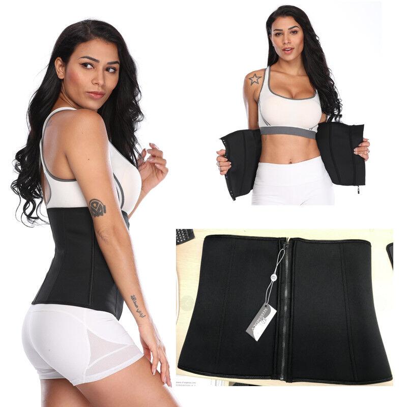 Waist Trainer Neoprene Belt Zipper+Hooks  Body Shaper Corset Girdle Slim Band HG