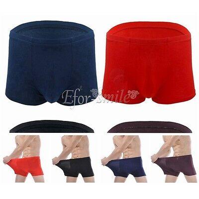 PLUS SIZE Mens Heavy Underwear Boxer Brief Men Spandex Bamboo Fiber Shorts Trunk ()
