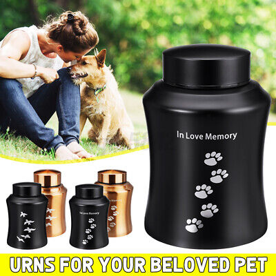 Cremation Urns Ashes Memorial Pet Cat Dog Stainless Secure S