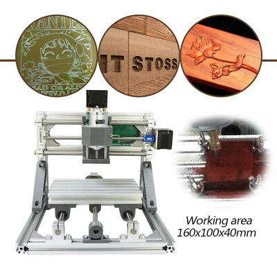 Us Usb Mini Cnc 1610 Engraving Machine Pcb Milling Wood Router For Diy Beginner