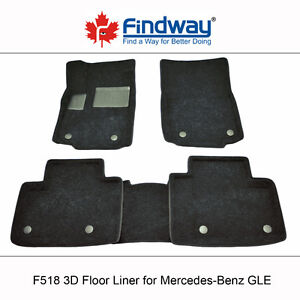 All weather 3D Floor Liners for 2016-2018 Mercedes-Benz GLE