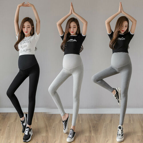 Maternity Pregnancy Slim Skinny Leggings Over The Belly Soft Stretch Yoga Pants