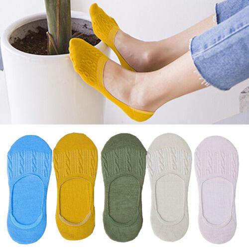 1 Pair Cotton No Show Socks for Women Non-slip Invisible Fla