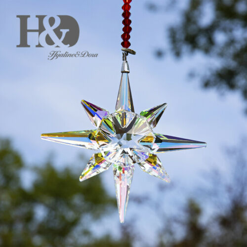 2019 Crystal Meteor Hammer Star Ornament Christmas Collectible Hanging Pendants