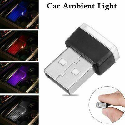Mini USB LED Car Auto Interior Decor Light Neon Atmosphere Ambient Lamp 5 Color