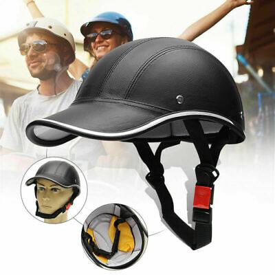 Jethelm Motorradhelm Halbhelme Baseballmütze Helm Rollerhelm Schutzhelm Schwarz
