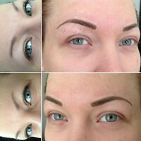 Permanent Eyebrows With Hairstrokes!