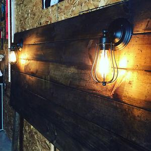 Making handmade rustic headboards