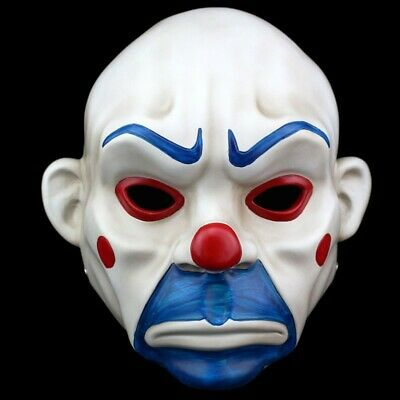 Batman Joker Clown Bank Robber Masks The Dark Knight Scale Mask Costumes - Clown Joker Mask