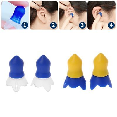 1pair Silicone Flight Earplugs Noise Cancelling Reusable Ear Plugs For Airplanes