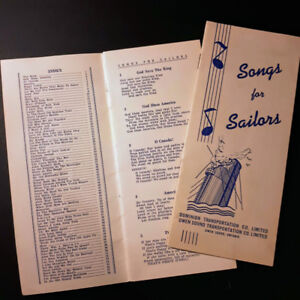c1940s  Owen Sound   Songs for Sailors  pamphlets