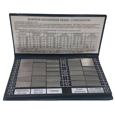 Surface Roughness Comparison Sample Block 30 Blocks Ra0.05-12.5mm Roughness