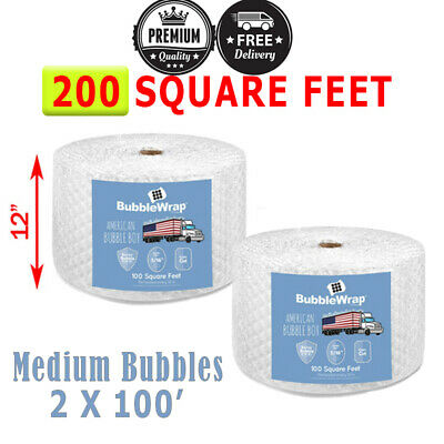 200 Feet Medium Bubble Wrap Roll 12 Wide 516 Bubbles Perforated 12 Premium