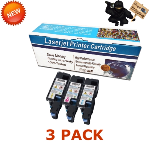 4X Toner Cartridge SET For DELL C1660 C1660w 332-0399 332-0400 332-0401 332-0402