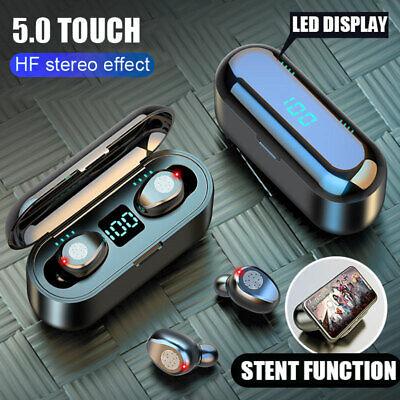 F9 bluetooth 5.0 TWS Inalámbrico Auriculares LED Impermeable Para iPhone xiaomi