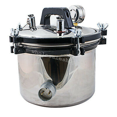 8l Portable Steam Autoclave Sterilizer Dental Medical Pressure Equipment Seal Ce