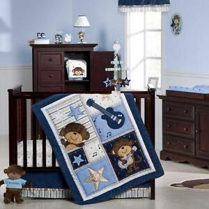 Monkey Rockstar 5 Piece Baby Crib Bedding Set with Bumper by Carters