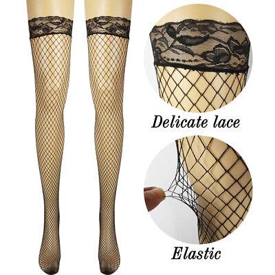 Net Lace Women Pantyhose Top Long Thigh Tights Fishnet Stockings High Socks