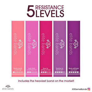 Resistance Loop Bands Set - 5 LEVELS - 2 Sets for the price of 1